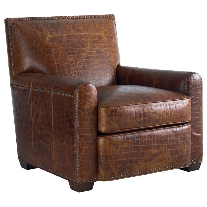 Tommy Bahama Upholstery Stirling Park Leather Chair by Tommy Bahama Home at Baer's Furniture