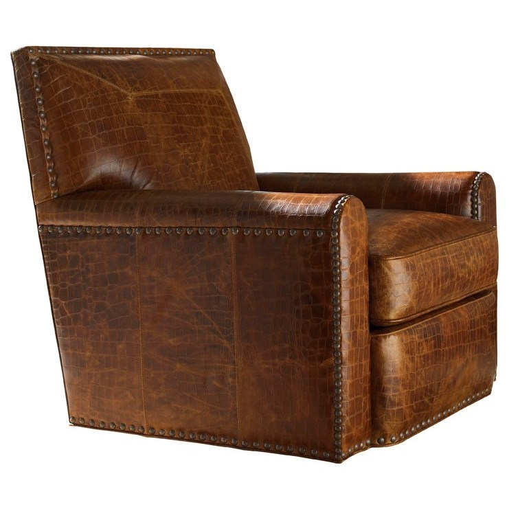 Tommy Bahama Upholstery Stirling Park Swivel Chair by Tommy Bahama Home at Baer's Furniture