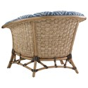 Tommy Bahama Home Twin Palms Sunset Key Chair with Basket-Woven Banana Leaf Detail - Back Shown in Alternate Finish