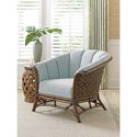 Tommy Bahama Home Twin Palms Sunset Key Chair with Basket-Woven Banana Leaf Detail