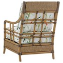 Tommy Bahama Home Twin Palms Seagate Chair with Woven and Leather-Wrapped Rattan Frame