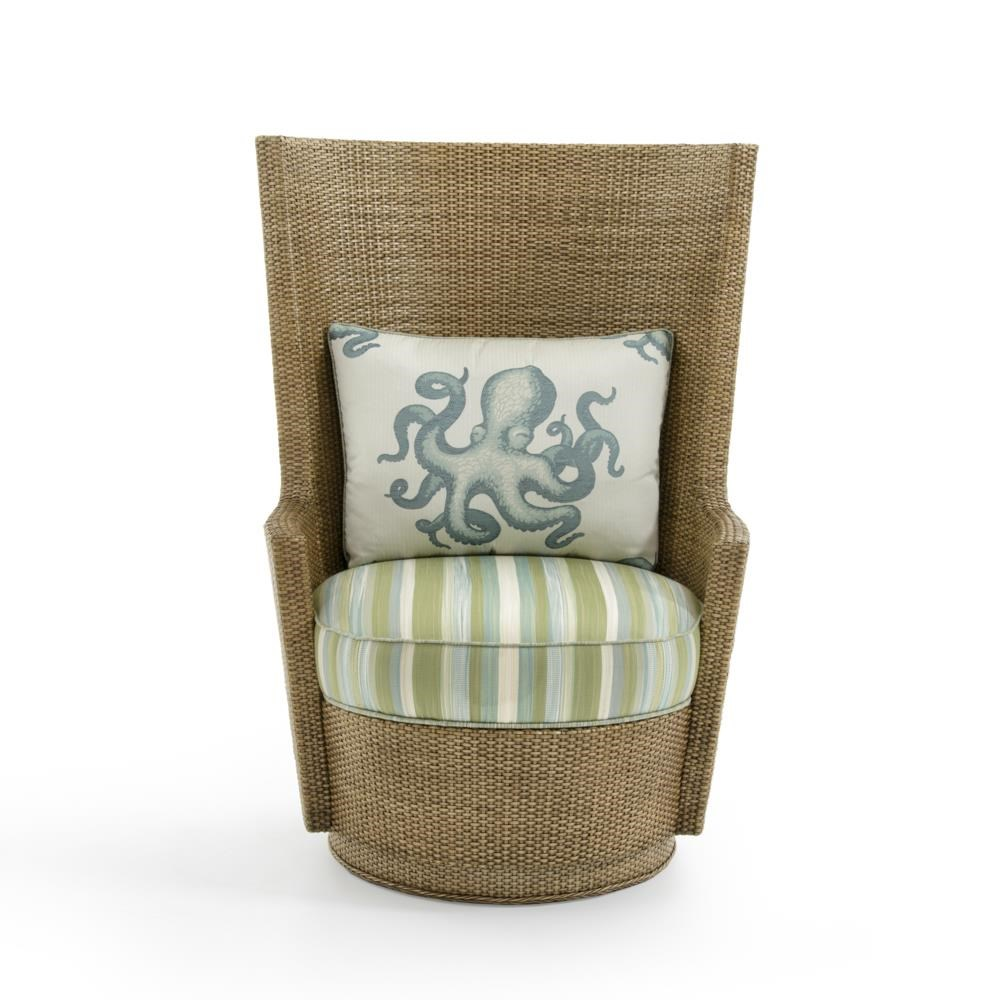 Twin Palms Lago Mar Swivel Chair by Tommy Bahama Home at Baer's Furniture