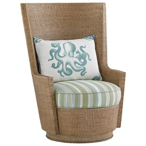 Tommy Bahama Home Twin Palms Lago Mar Swivel Chair