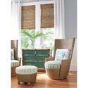 Tommy Bahama Home Twin Palms Lago Mar Rattan Swivel Chair