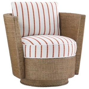 Tommy Bahama Home Twin Palms Tarpon Cay Swivel Chair