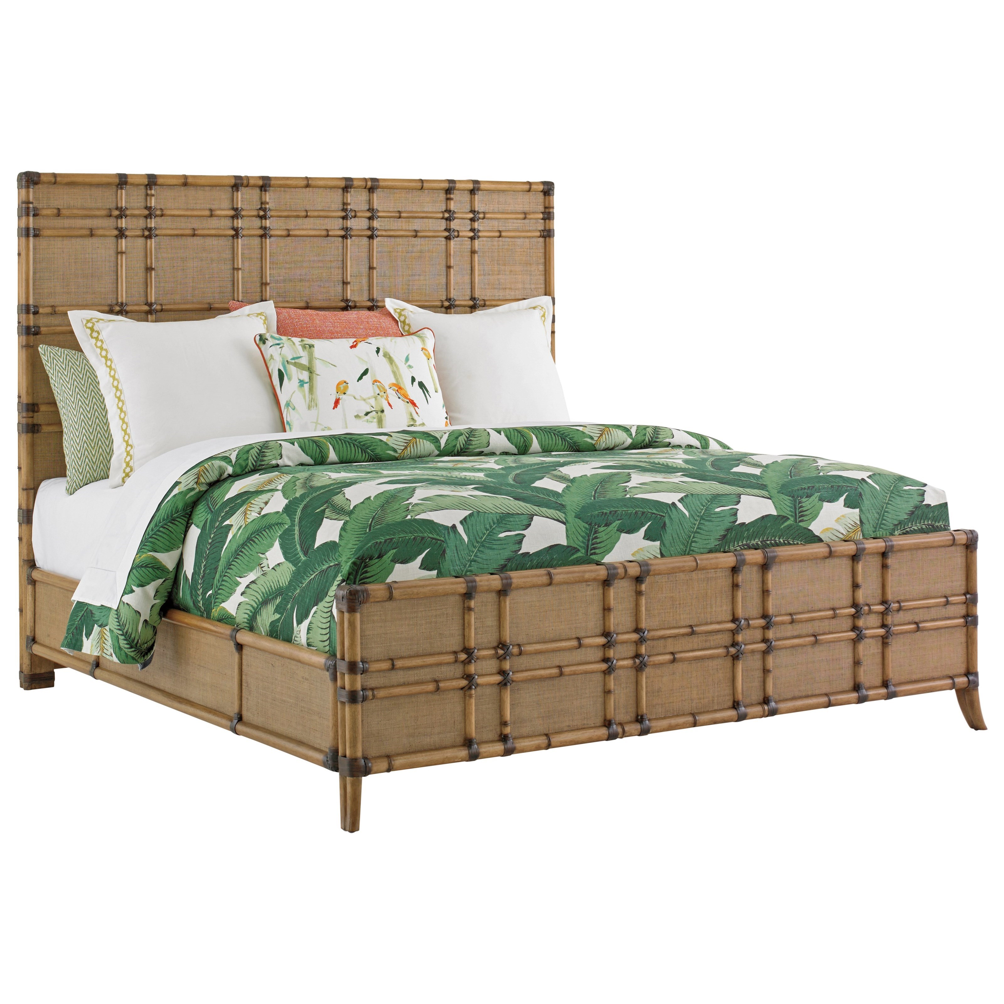 Tommy Bahama Home Twin Palms Queen Size Coco Bay Woven