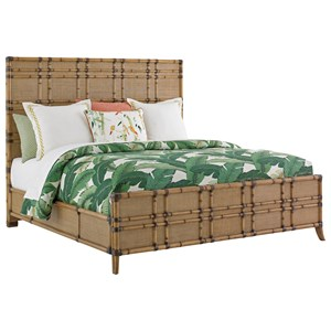 Tommy Bahama Home Twin Palms Queen Size Coco Bay Panel Bed