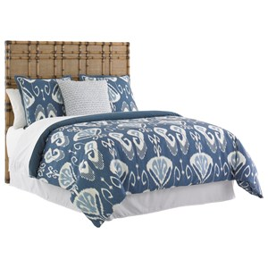 Tommy Bahama Home Twin Palms Queen Size Coco Bay Headboard