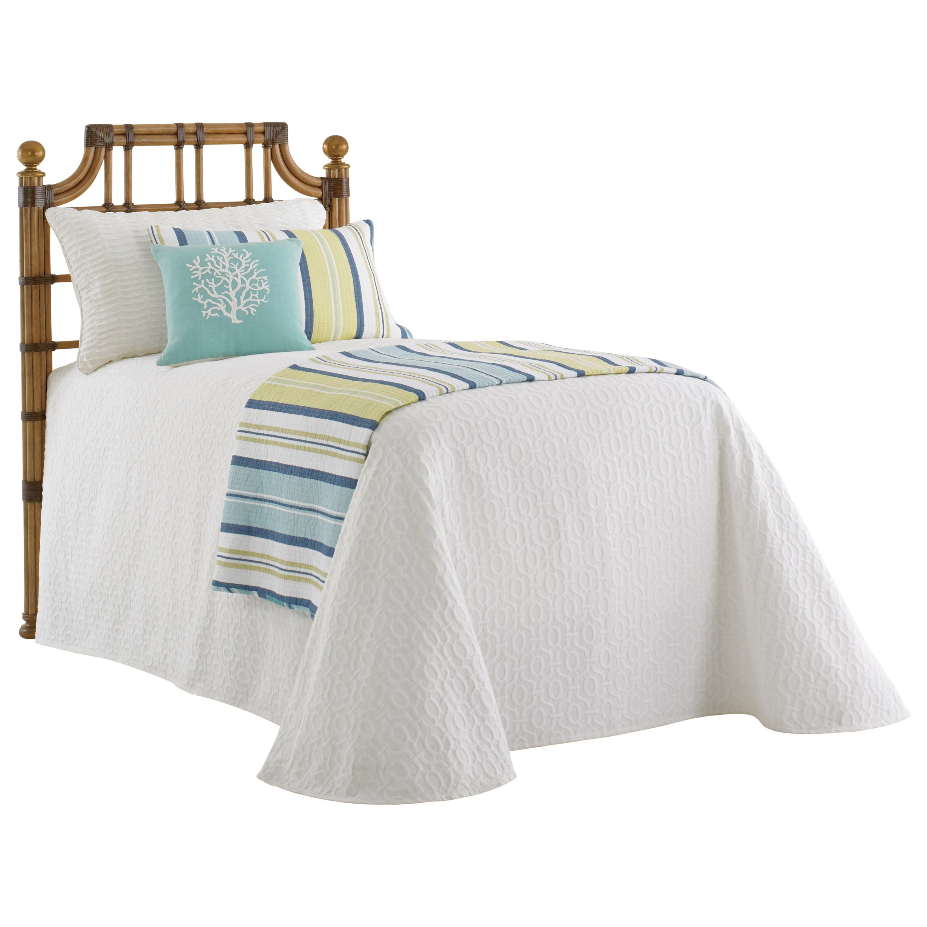 Tommy Bahama Home Twin Palms St. Kitts Twin Sized Headboard - Item Number: 558-141HB