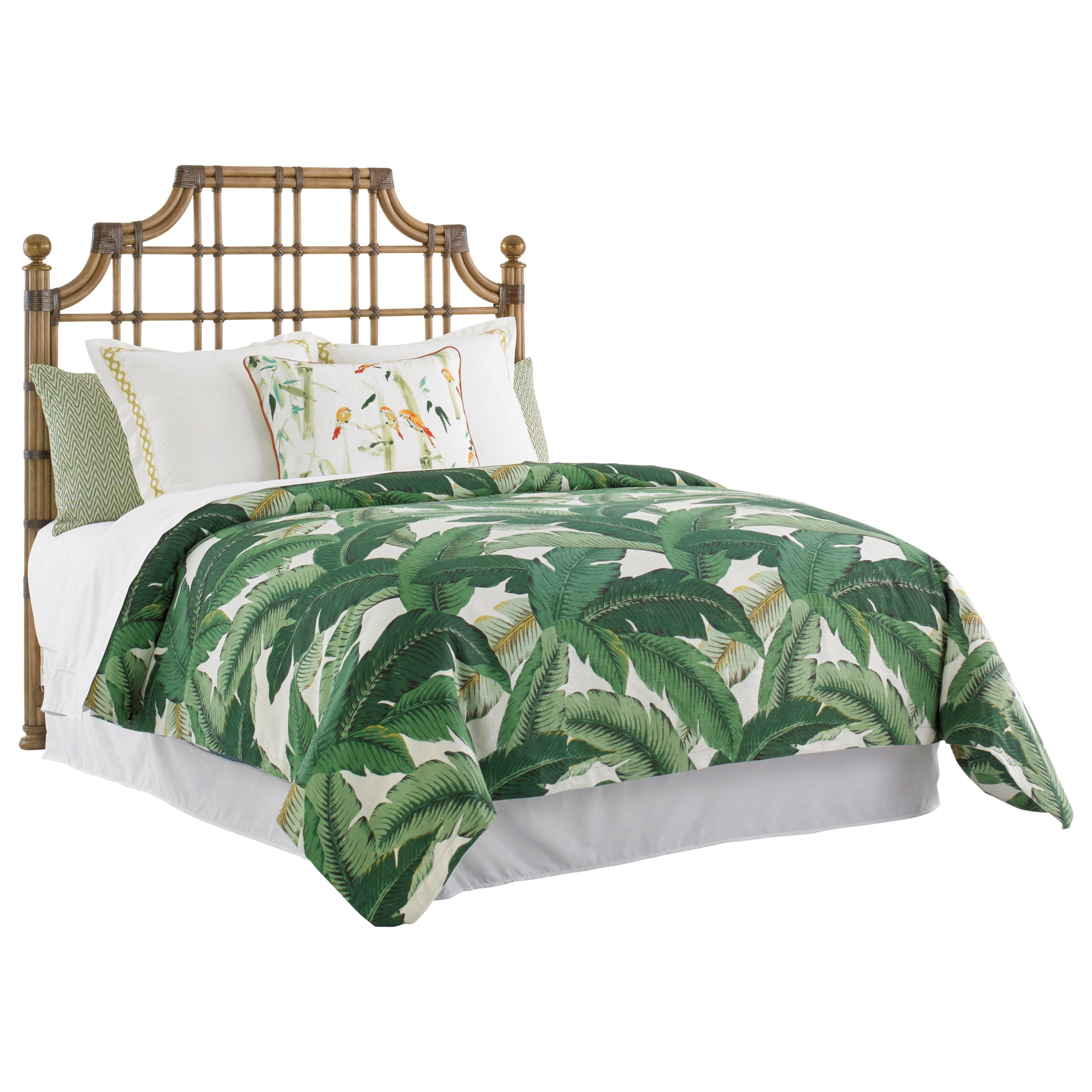 Tommy Bahama Home Twin Palms St. Kitts Queen Sized Headboard - Item Number: 558-143HB