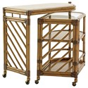 Tommy Bahama Home Twin Palms Cable Beach Bar Cart - Item Number: 558-862