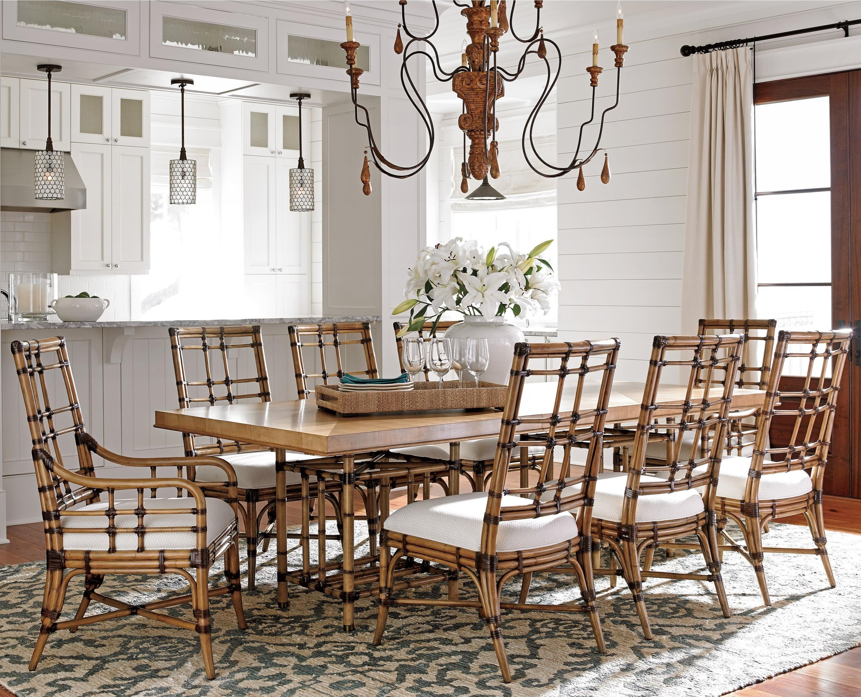 Twin Palms 9 Pc Dining Set by Tommy Bahama Home at Baer's Furniture