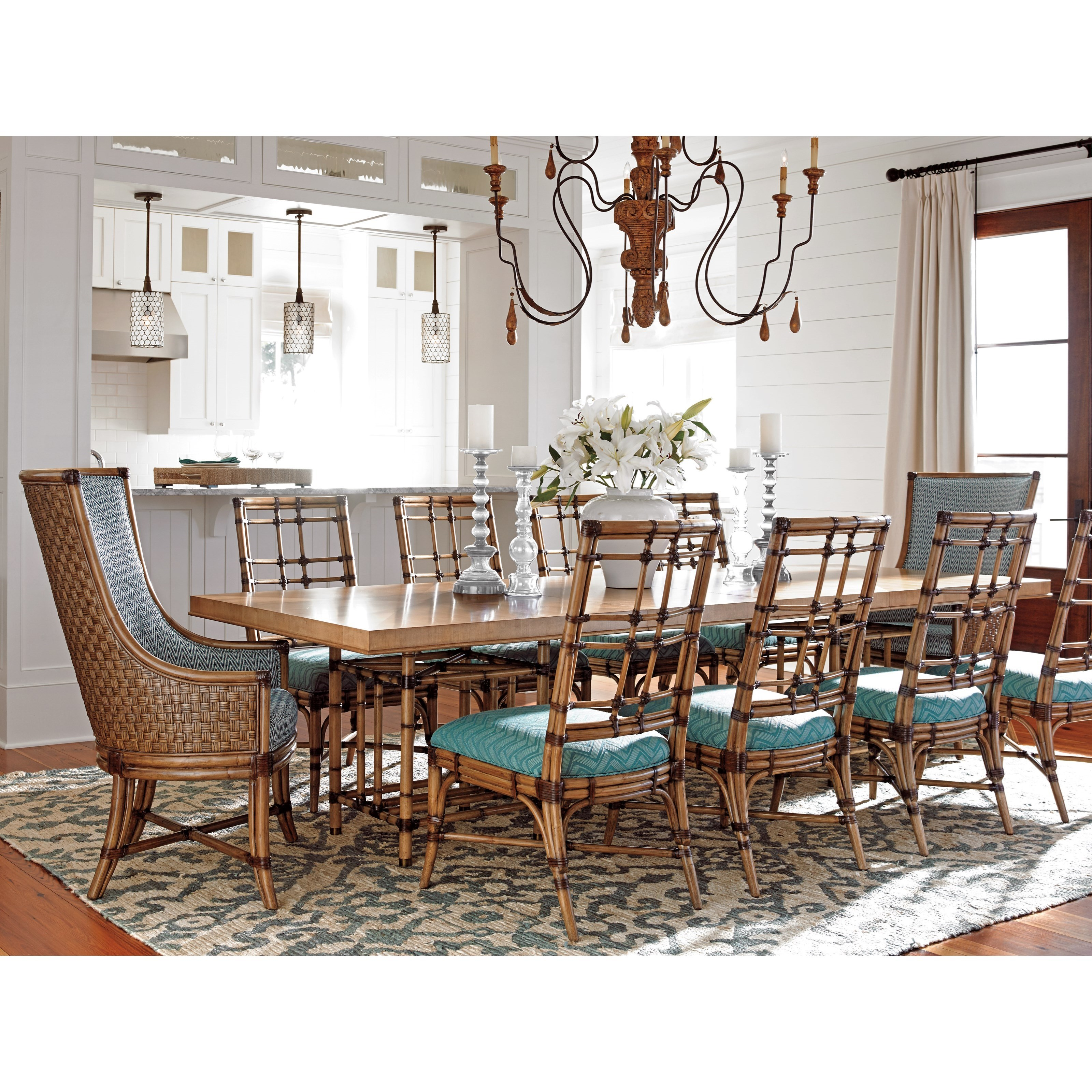 Twin Palms 11 Pc Dining Set by Tommy Bahama Home at Baer's Furniture