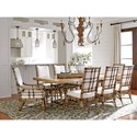 Tommy Bahama Home Twin Palms Caneel Bay Rectangular Dining Table with Extension Leaves