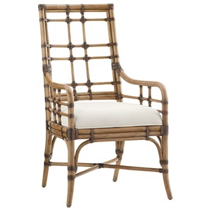 Tommy Bahama Home Twin Palms Seaview Arm Chair (Married Fabric)