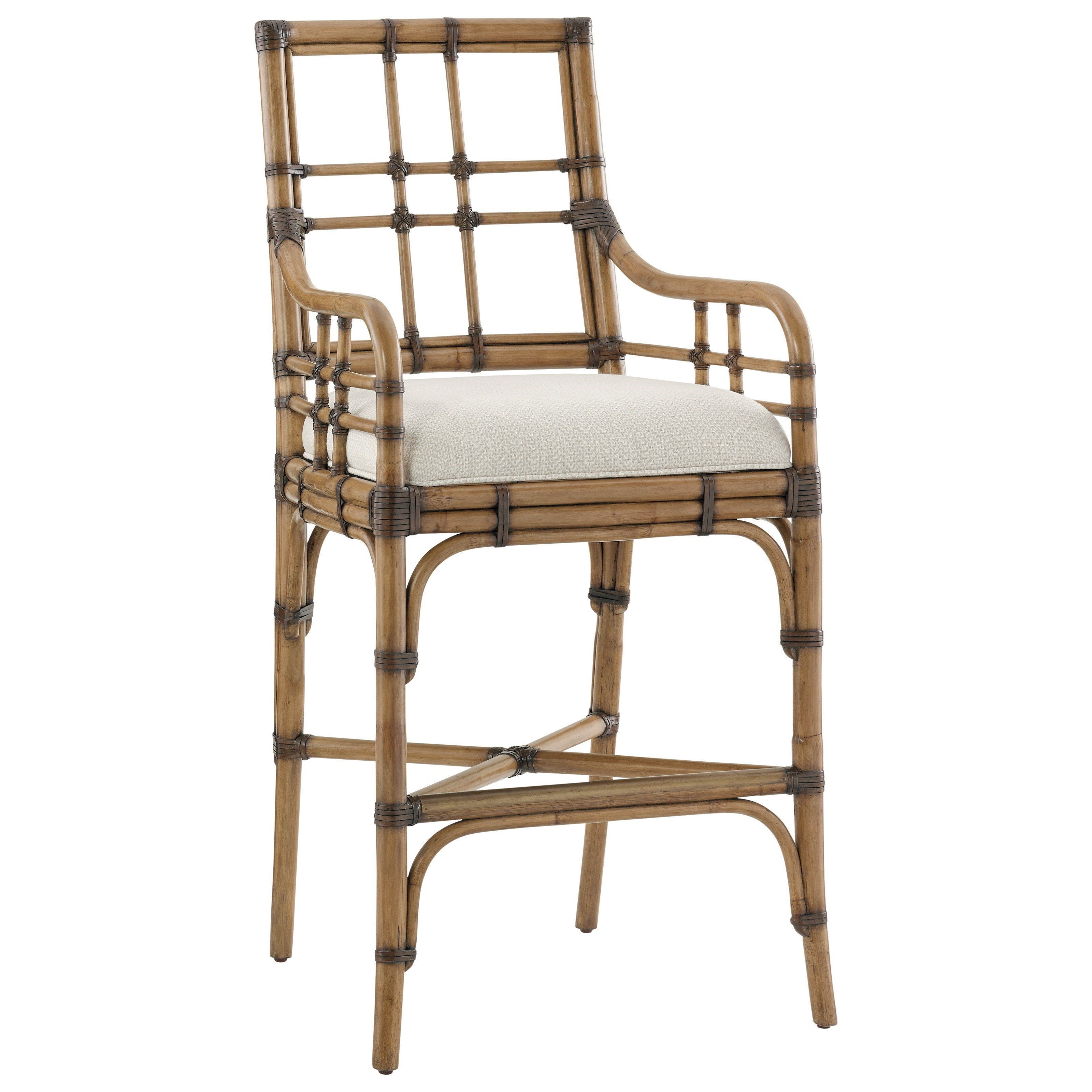 Twin Palms Lands End Bar Stool (Married Fabric) by Tommy Bahama Home at Baer's Furniture