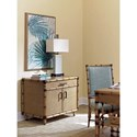Tommy Bahama Home Twin Palms Larimar Raffia Storage Chest with Adjustable Shelves