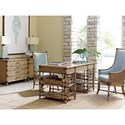 Tommy Bahama Home Twin Palms St. Vincent Table Desk with Display Pedestals