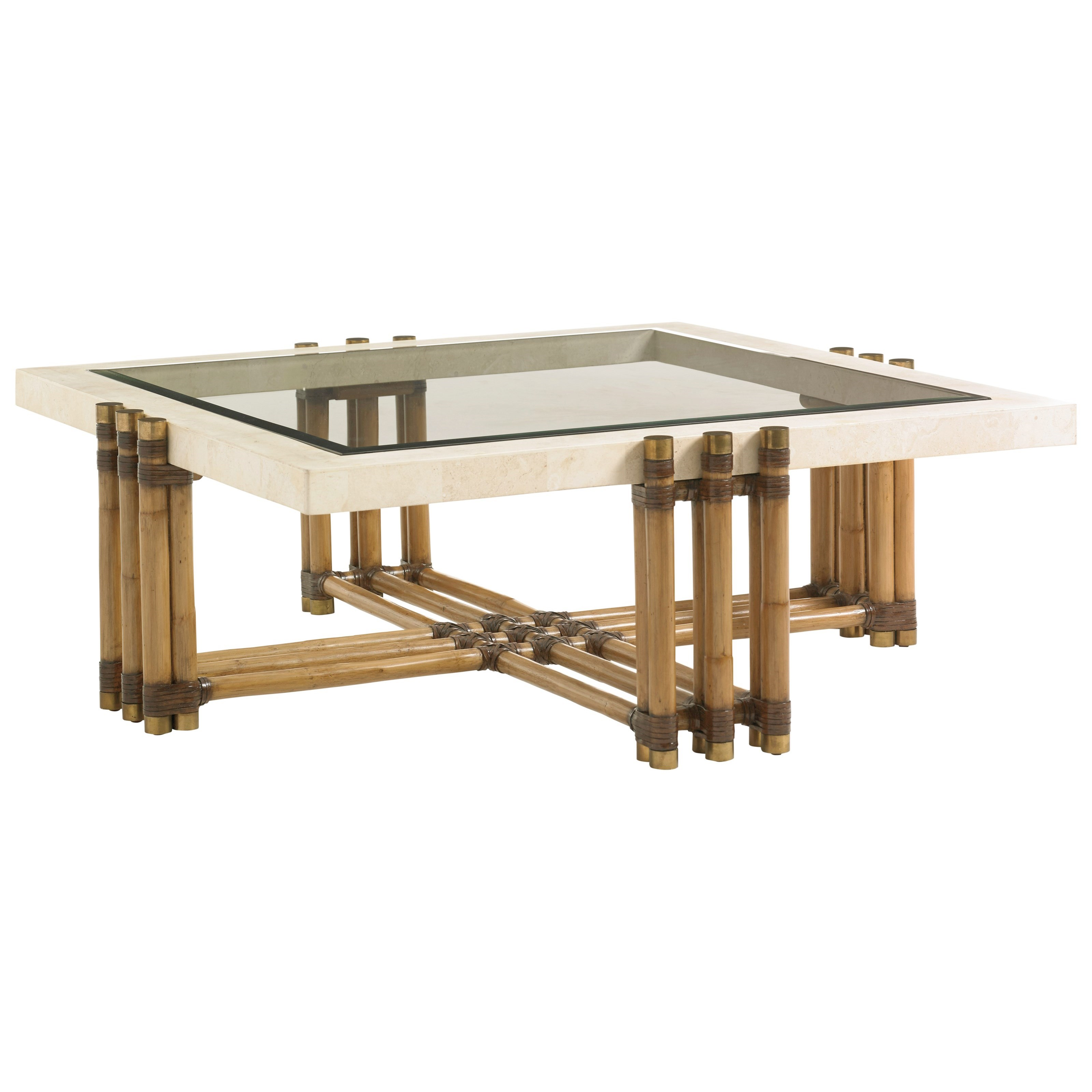 Tommy Bahama Home Twin Palms Weston Cocktail Table - Item Number: 558-947