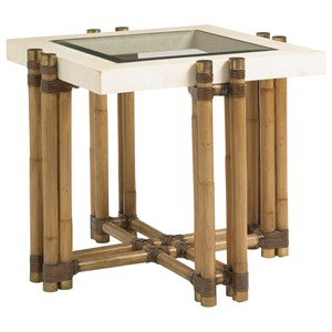 Tommy Bahama Home Twin Palms Los Cabos Lamp Table