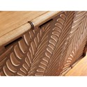 Tommy Bahama Home Twin Palms St. Croix Hall Chest with Palm Frond Motif and Bi-Fold Doors