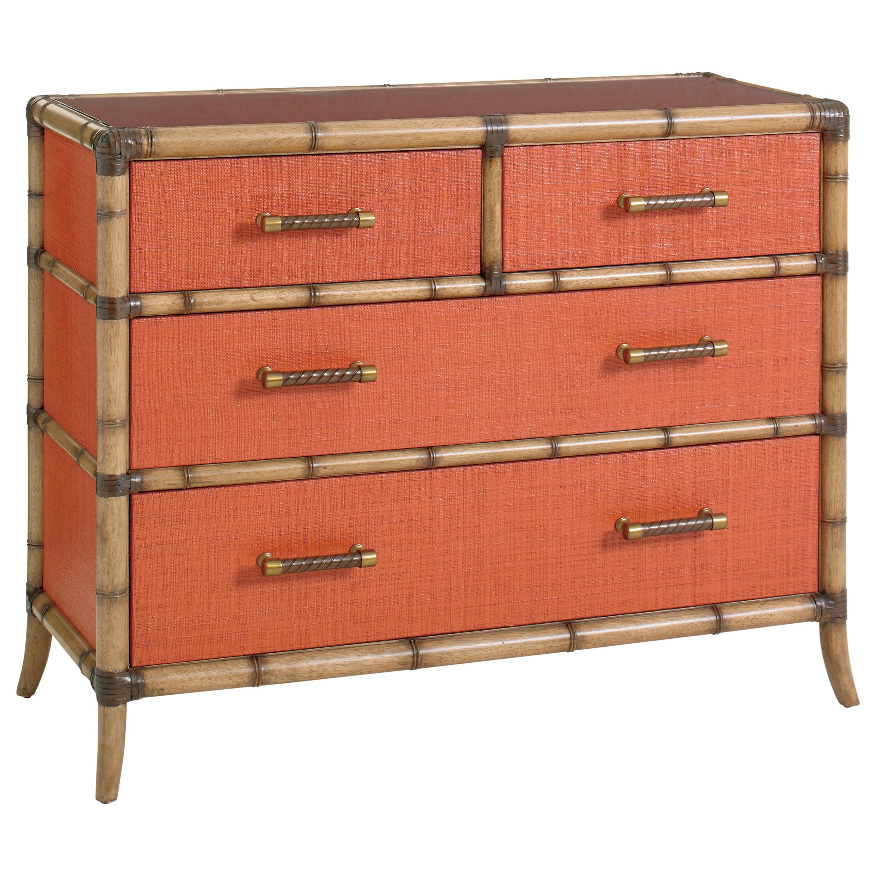 Red Coral 4 Drawer Chest