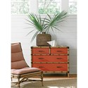Tommy Bahama Home Twin Palms_Coral Raffia Accent Chest with Protective Glass Top