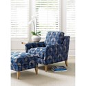 Tommy Bahama Home Twin Palms Coconut Grove Chair and Ottoman Set