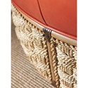 Tommy Bahama Home Twin Palms St. Barts Cocktail Ottoman with Woven Banana Leaf Detail