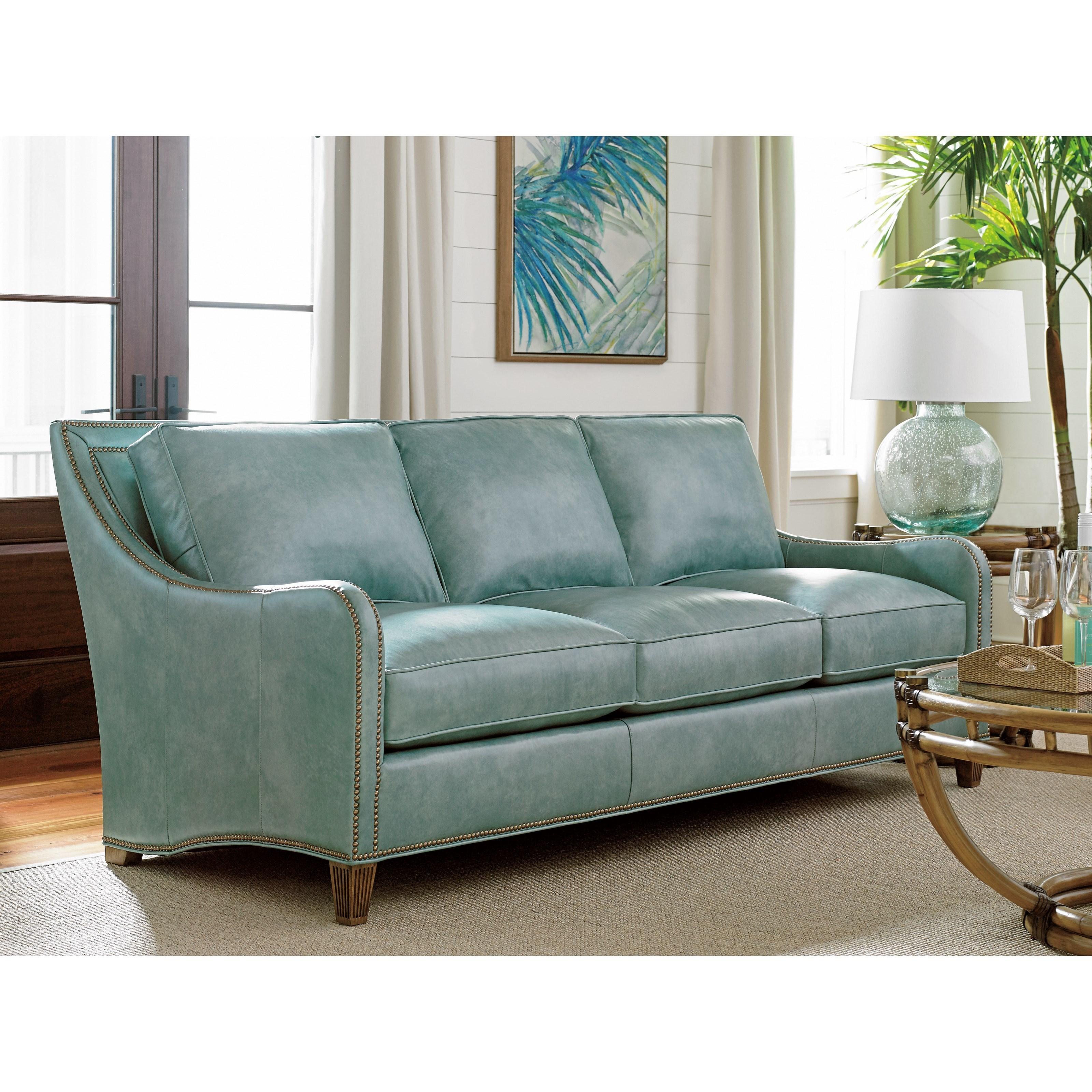 Tommy Bahama Home Twin Palms Koko Sofa With Nailhead