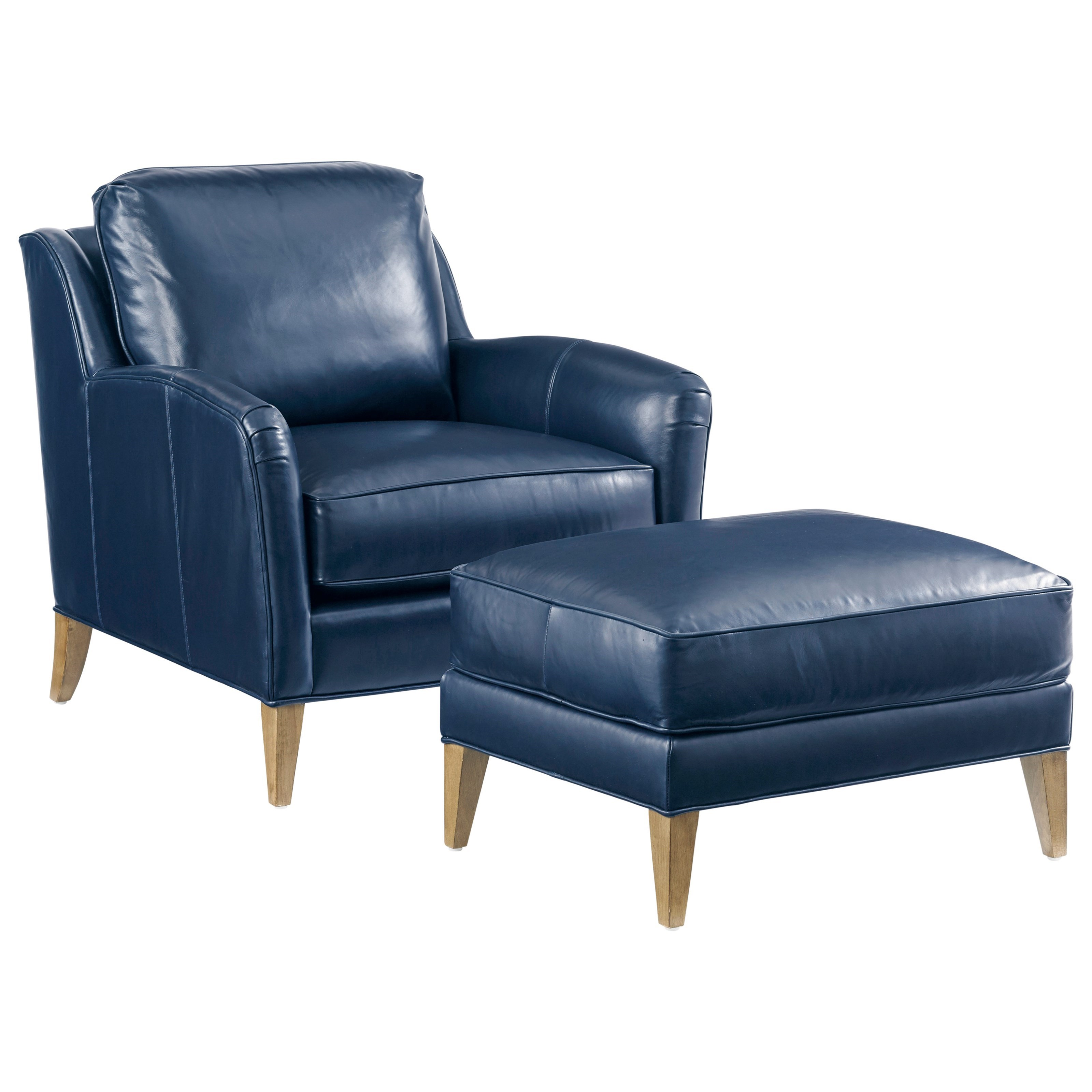 Twin Palms Coconut Grove Chair and Ottoman Set by Tommy Bahama Home at Baer's Furniture