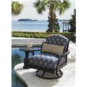 Tommy Bahama Outdoor Living Alfresco Living Black Pineapple Table with Bronze Highlights - Shown with Kingston Sedona Swivel Lounge Chair