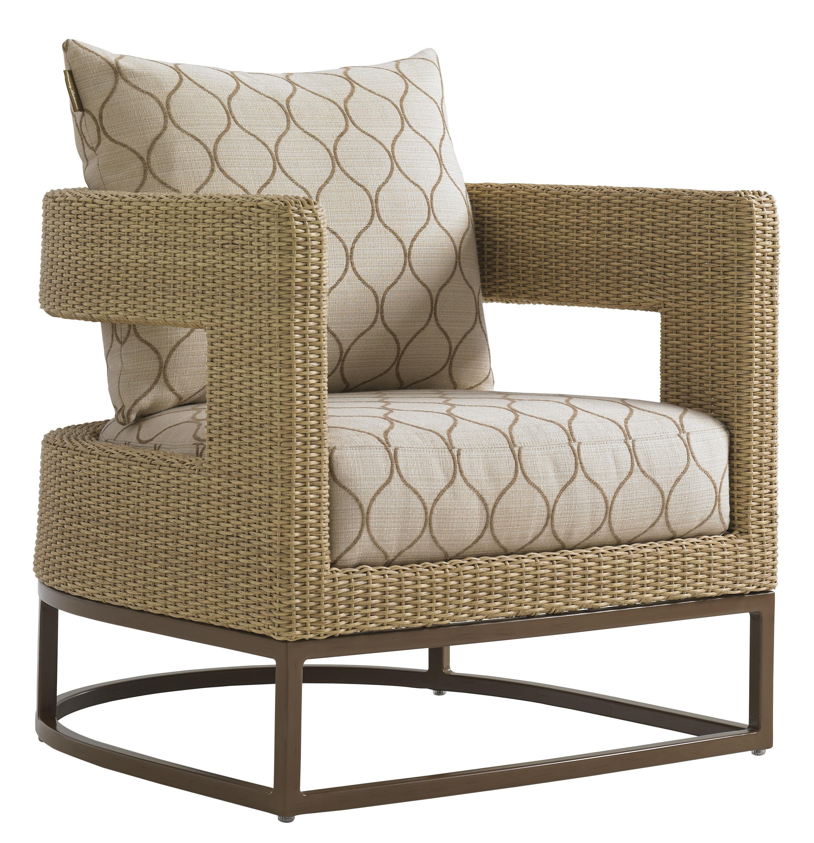Tommy Bahama Outdoor Living Aviano Barrel Chair - Item Number: 3220-11+CS3220-11