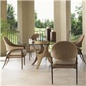 Tommy Bahama Outdoor Living Aviano 5 Piece Outdoor Dining Table Set - Item Number: 3220-870GT+TB+4x13+CS3220-13