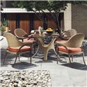 Tommy Bahama Outdoor Living Aviano 5 Piece Outdoor Dining Table Set with Dining Arm Chairs