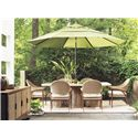 Tommy Bahama Outdoor Living Aviano 7 Piece Outdoor Dining Table Set with Dining Arm Chairs and Umbrella