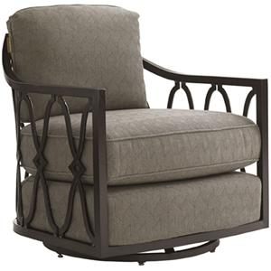 Tommy Bahama Outdoor Living Black Sands Outdoor Swivel Tub Chair