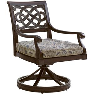 Tommy Bahama Outdoor Living Black Sands Outdoor Swivel Rocker Dining Chair