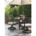 Tommy Bahama Outdoor Living Black Sands Outdoor Swivel Rocker Dining Chair with Track Arms