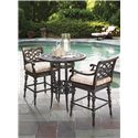 Tommy Bahama Outdoor Living Black Sands Outdoor Swivel Bar Stool with Turned Legs