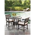Tommy Bahama Outdoor Living Black Sands Outdoor Swivel Counter Stool with Turned Legs