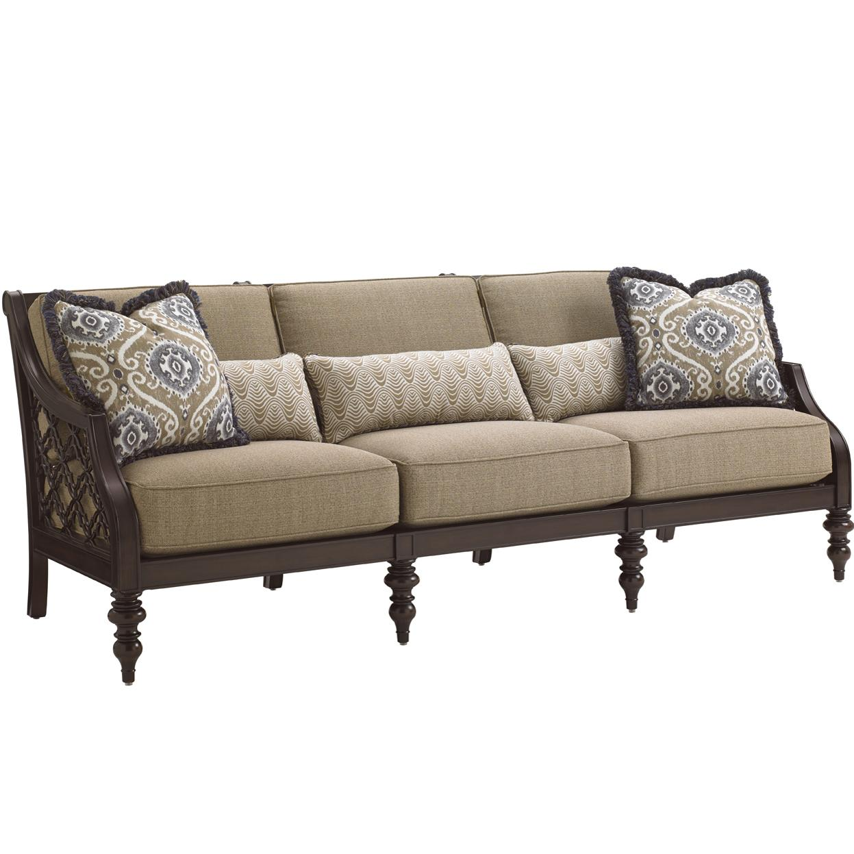Tommy Bahama Outdoor Living Black Sands Outdoor Sofa - Item Number: 3235-33+CS3235-33