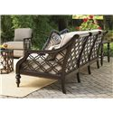 Tommy Bahama Outdoor Living Black Sands Outdoor Sofa with Turned Feet