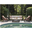 Tommy Bahama Outdoor Living Black Sands Outdoor Cocktail Ottoman with Removable Metal Tray