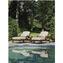 Tommy Bahama Outdoor Living Black Sands Outdoor Chaise Lounge with Turned Feet
