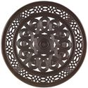 Tommy Bahama Outdoor Living Black Sands Outdoor High/ Low Bistro Bar Table with Elegant Design - Detail of Table Top