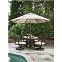 Tommy Bahama Outdoor Living Black Sands Outdoor Round Dining Table With Elegant Design