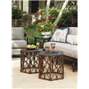 Tommy Bahama Outdoor Living Black Sands Outdoor Bunching Cocktail Table with Elegant Design