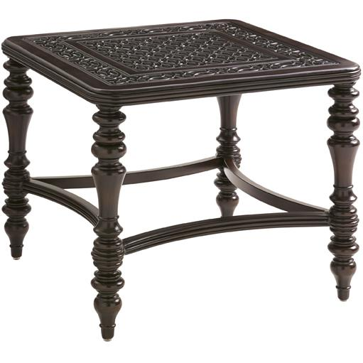 Tommy Bahama Outdoor Living Black Sands Outdoor Square End Table - Item Number: 3235-953