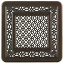 Tommy Bahama Outdoor Living Black Sands Outdoor Square End Table with Turned Legs - Detail of Table Top